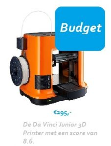 Da Vinci Junior 3D printer budget