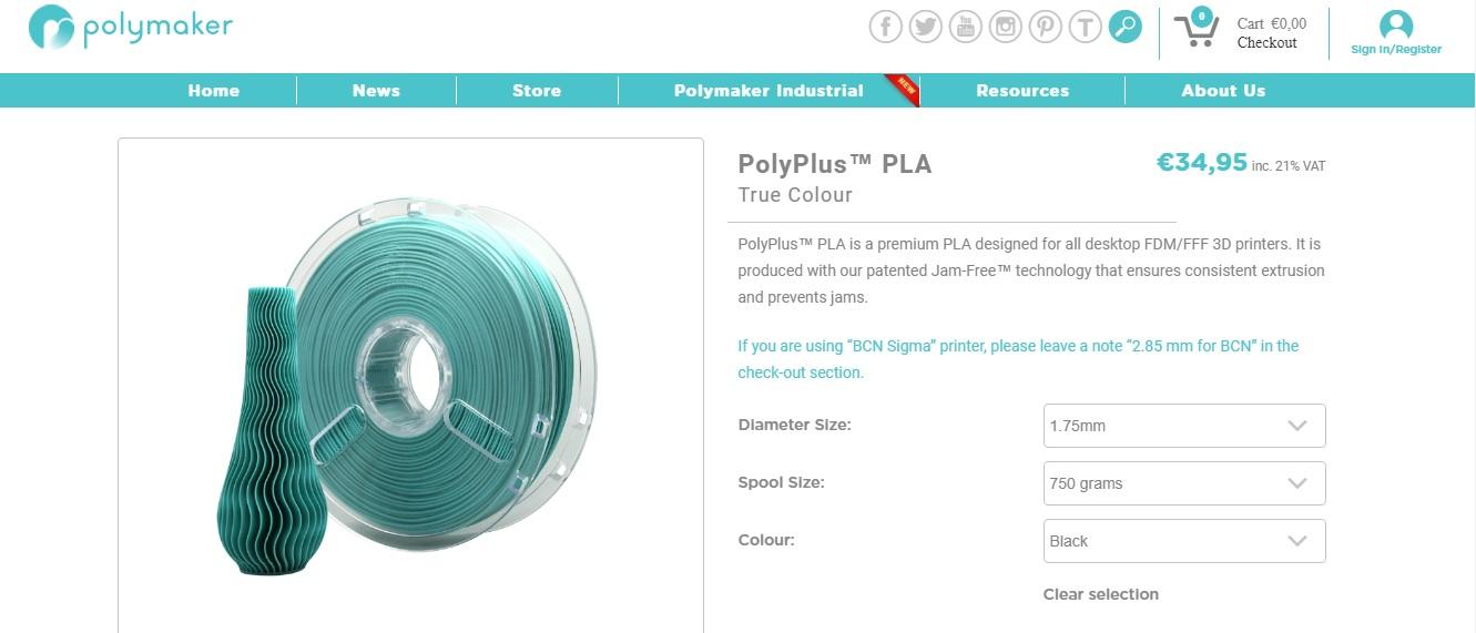 Polymaker filamenten