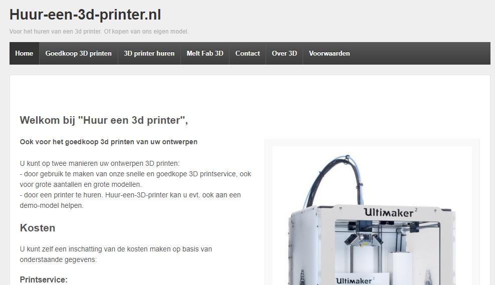 huur een 3d printer