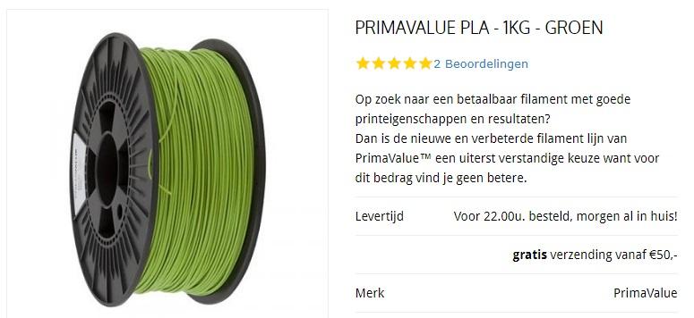 primavalue filament kopen